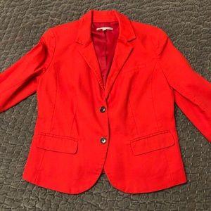 Red orange GAP blazer sz 8